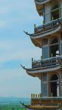 Pagoda nella provincia di Kanchanaburi della Tailandia fotografie stock libere da diritti