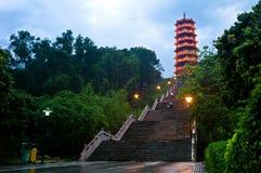 Pagoda nella sosta di Honghuashan Immagine Stock Libera da Diritti