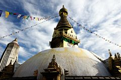 Pagoda in Nepal Stock Images