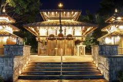 Pagoda nepalesa en el banco del sur, Brisbane foto de archivo libre de regalías