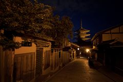 Pagoda at Night royalty free stock photography