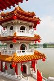 Pagoda no lago Imagem de Stock Royalty Free