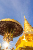 Pagoda in the north of Thailand. Stock Photo