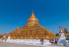 Pagoda o Shwezigon Paya, Bagan, Myanmar de Shwezigon Fotografía de archivo libre de regalías