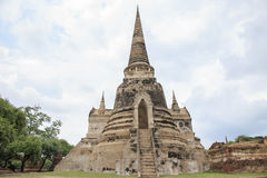 Pagoda old former capital of Thailand Royalty Free Stock Images