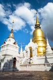 The pagoda of old temple in Thailand. The pagoda of old temple Suan dok in Chiang Mai province, Thailand stock photos