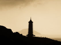 A pagoda outline Stock Photo