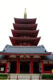 Pagoda outside Sensou-ji Temple in Asakusa, Tokyo Royalty Free Stock Image