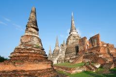 Pagoda på Ayutthaya Arkivfoto