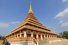 Pagoda på Wat Nongwang, Khon Kaen Thailand Arkivfoto