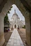 The Hsinbyume Pagoda, Mingun, Myanmar stock photos