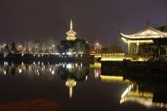 Pagoda par nuit Photo stock