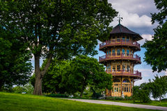 The pagoda at Patterson Park in Baltimore, Maryland. royalty free stock image