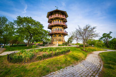The pagoda at Patterson Park, in Baltimore, Maryland. stock image