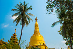 Pagoda Paya di Shwemawdaw Pegu nel Myanmar burma immagini stock