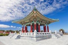 pagoda pedro san приятельства колокола корейский стоковое фото