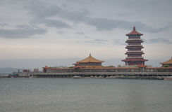 Pagoda at Penglai Stock Images