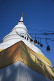 White Pagoda. In Phasing temple, Chiangmai, Thailand Royalty Free Stock Photos