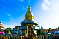 Pagoda. Phra Chedi hearts the center stock photo
