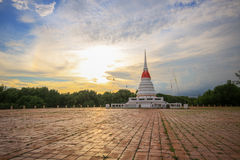 Pagoda. Phra Samut Chedi or water tower. Applied as a symbol for those who travel through. At this point note that Close to Bangkok Royalty Free Stock Images