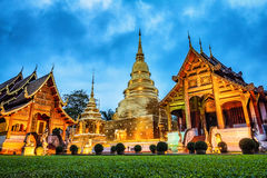 Pagoda at Phra Singh temple. Royalty Free Stock Images