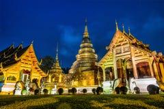 Pagoda at Phra Singh temple. Royalty Free Stock Photo