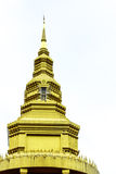Pagoda. Pinnacle tipped gold looks stunning in a monastery Royalty Free Stock Photography