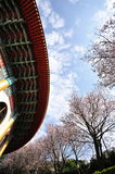 Pagoda and plum flowers Royalty Free Stock Photography
