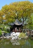 Pagoda and pond royalty free stock photography