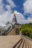 Pagoda przy Doi inthanon w Chiangmai prowinci, Tajlandia Obraz Stock