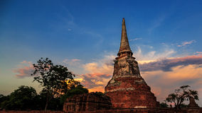 Pagoda przy Historycznym miastem Ayutthaya Zdjęcie Royalty Free