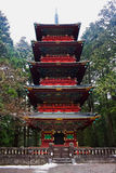 Pagoda przy Rinnoji świątynią Obrazy Royalty Free