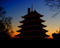 Pagoda at Reading , Pa. Royalty Free Stock Photo