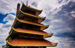 The Pagoda in Reading, Pennsylvania. Royalty Free Stock Photo