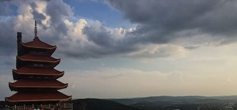 The pagoda. In reading, pennsylvania during the day royalty free stock photos
