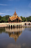 Pagoda reflecting in water.Bangkok.Thailand. Stock Image