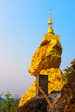 Pagoda on rock stone with blue sky Royalty Free Stock Photos