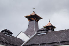 Pagoda roof on a Scottish distillery Royalty Free Stock Photography