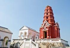 Pagoda rosso alla sosta di Phra Nakhon Khiri Immagine Stock Libera da Diritti
