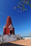Pagoda rosso del palazzo di Phra Nakorn Kiri Fotografia Stock Libera da Diritti