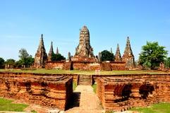 Pagoda rotto in Ayutthaya 4 Fotografia Stock
