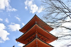 Pagoda rouge au Japon photo stock
