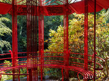 Pagoda rouge, Portmeirion Photographie stock