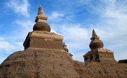 Pagoda ruin Stock Images
