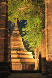 Pagoda and ruin site of Sukhothai Royalty Free Stock Photo