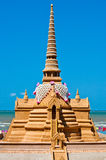 Pagoda's sand at Bangsan Beach Royalty Free Stock Images