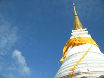 Pagoda, the sacred pagoda Dvaravati Chedi, Khao Tang Kua, Songkhla Thailand. Pagoda in Thailand royalty free stock image