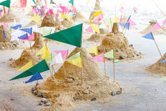 Pagoda sand. The Pagoda sand is symbol of buddhism culture in Thailand Royalty Free Stock Photos