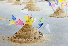The  pagoda sand. The Pagoda sand is symbol of buddhism culture in Thailand Royalty Free Stock Image