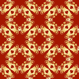 Pagoda seamless pattern Royalty Free Stock Images